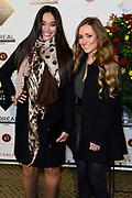 Grazia Fashion Awards 2014 in het Vondelpark CS, Amsterdam.<br /> <br /> Op de foto: Romy Monteiro met vroendin Romy