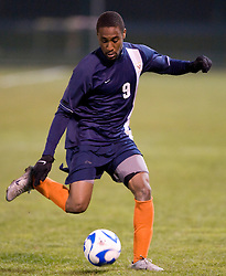 Virginia forward Matt Mitchell (9)..The West Virginia Mountaineers defeated the Virginia Cavaliers 1-0 in the second round of the 2007 NCAA Men's Soccer Tournament at Dick Dlesk Stadium in Morgantown, WV on November 28, 2007.
