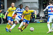 Jamie Shackleton (46) of Leeds United on the attack during the The FA Cup 3rd round match between Queens Park Rangers and Leeds United at the Loftus Road Stadium, London, England on 6 January 2019.