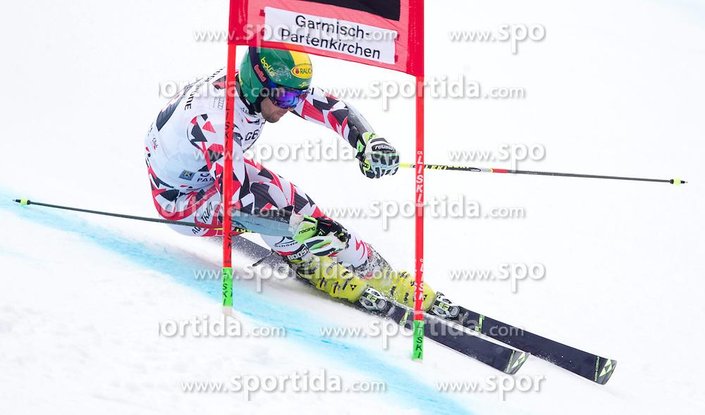 01.03.2015, Kandahar, Garmisch Partenkirchen, GER, FIS Weltcup Ski Alpin, Riesenslalom, Herren, 1. Lauf, im Bild Philipp Schoerghofer (AUT) // Philipp Schoerghofer of Austria in action during 1st run for the men's Giant Slalom of the FIS Ski Alpine World Cup at the Kandahar course, Garmisch Partenkirchen, Germany on 2015/03/01. EXPA Pictures © 2015, PhotoCredit: EXPA/ Johann Groder
