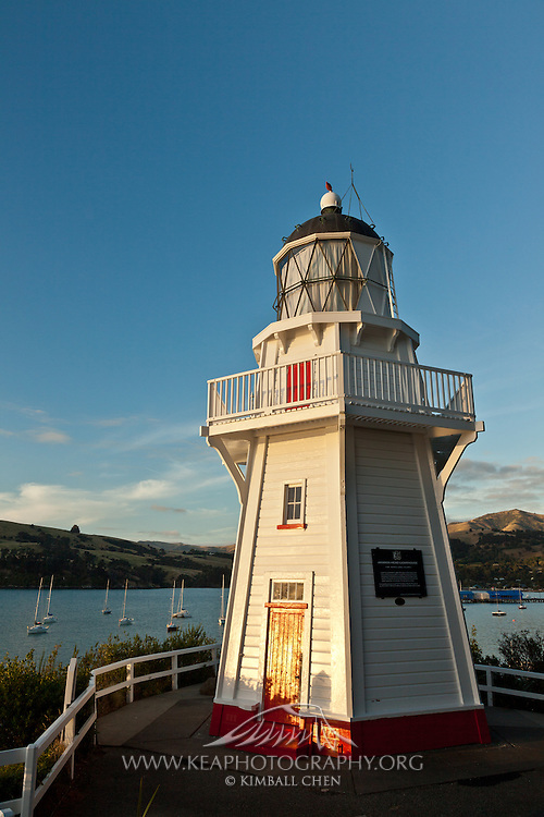 Akaroa Lighthouse, Banks Peninsula, New Zealand