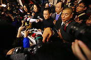 BEIJING, CHINA - MARCH 8: (CHINA OUT)<br /> <br /> Malaysia Airlines Disaster<br /> <br /> Joshua Law Kok Hwa, Malaysia Airlines\' regional senior vice president of China, speaks at a conference regarding the missing Malaysian Airlines flight MH370 at the Metropark Lido Hotel on March 8, 2014, in Beijing, China. Malaysia Airlines Flight MH370 from Kuala Lumpur to Beijing and carrying 239 onboard was reported missing after the crew failed to check in as scheduled while flying over the sea between Malaysia and Ho Chi Minh City in Vietnam, according to published reports<br /> ©Exclusivepix