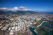 Downtown Honolulu, Oahu, Hawaii.