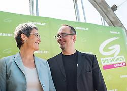 24.05.2014, Adria Wien, Wien, AUT, Gruene, Wahlfinale anlaessich der Europawahl 2014. im Bild v.l.n.r. Gruene Spitzenkandidatin zur EU-Wahl Ulrike Lunacek und Gruener Kandidat zur EU-Wahl Michel Reimon // f.l.t.r. Topcandidate of the greens for EU-Election Ulrike Lunacek and Candidate of the Greens for EU-Election Michel Reimon during election campaign ending of the greens for EU election at Adria Wien in Vienna, Austria on 2014/05/24. EXPA Pictures © 2014, PhotoCredit: EXPA/ Michael Gruber