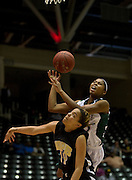 Derita Silas (23) of Mississippi Valley State University loses the ball against Arkansas-Pine Bluff during the SWAC semi-finals at the Curtis Culwell Center in Garland on Friday, March 15, 2013. (Cooper Neill/The Dallas Morning News)