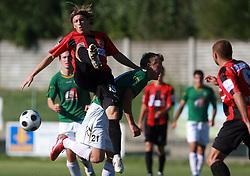 Davor Skerjanc (15) of Primorje and Nik Omladic (21) of Rudar at 6th Round of PrvaLiga Telekom Slovenije between NK Primorje Ajdovscina vs NK Rudar Velenje, on August 24, 2008, in Town stadium in Ajdovscina. Primorje won the match 3:1. (Photo by Vid Ponikvar / Sportal Images)