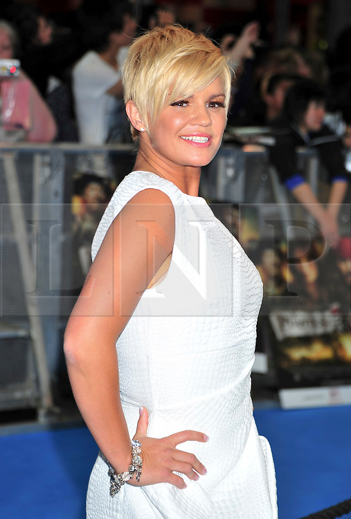 """© licensed to London News Pictures. London, UK  12/05/11 Kerry Katona attends the UK premiere of Pirates of the Carribean 4 """"on Stranger Tides"""" at Londons Westfield . Please see special instructions for usage rates. Photo credit should read AlanRoxborough/LNP"""