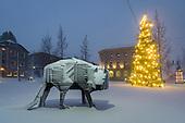 Snowstorm in Akureyri