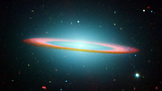 Part of the Sombrero Galaxy in infrared showing floating ring.  Credit NASA. Science Astronomy