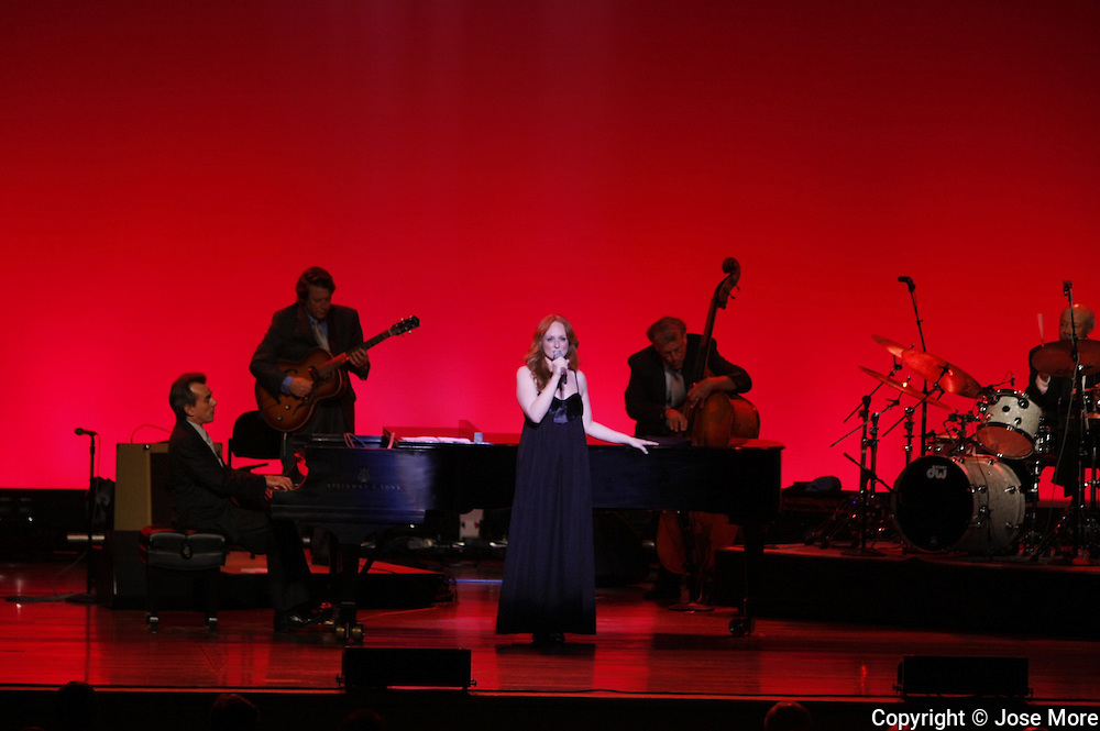 Antonia Bennett opens the show for her fatherTony Bennett at the Ravinia Festival in Highland Park, Ill. August 28, 2009. Ravinia Festival is the oldest outdoor music festival in the United States, with a series of outdoor concerts and performances held every summer. Photography by Jose More