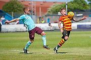Craig Slater of Partick Thistle controls the ball during the Pre-Season Friendly match between Partick Thistle and Heart of Midlothian at Central Park Stadium, Cowdenbeathl, Scotland on 8 July 2018. Picture by Malcolm Mackenzie.