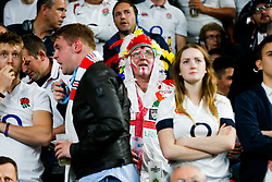 England fans await the TMO decision after England replacement Billy Vunipola scores a try at the end of the match to secure a crucial bonus point win in the match - Mandatory byline: Rogan Thomson/JMP - 07966 386802 - 18/09/2015 - RUGBY UNION - Twickenham Stadium - London, England - England v Fiji - Rugby World Cup 2015 Pool A.