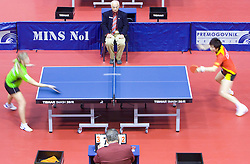 Anna Tikhomirova of Russia vs Ding Ning of China at 10th Slovenian Open Table Tennis Championships - Pro Tour Velenje Slovenian Open tournament, in Round 1, on January 15, 2009, in Red sports hall, Velenje, Slovenia. (Photo by Vid Ponikvar / Sportida)