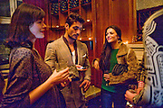 JASMINE GUINNESS; DAVID GANDY; NATALIA BARBIERI, London College of Fashion hosts party to celebrate the opening of Carmen: A Life in Fashion with guest of honour Carmen Dell'Orefice. Il Bottachio, Hyde Park Corner. London. 16 November 2011. <br /> <br />  , -DO NOT ARCHIVE-&copy; Copyright Photograph by Dafydd Jones. 248 Clapham Rd. London SW9 0PZ. Tel 0207 820 0771. www.dafjones.com.