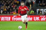 Manchester United Defender Luke Shaw during the The FA Cup match between Wolverhampton Wanderers and Manchester United at Molineux, Wolverhampton, England on 16 March 2019.