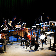 May 14, 2011 - Manhattan, NY : .The Eastman Broad Band, conducted by Juan Trigos, perform during Symphony Space's Wall to Wall Sonidos concert on Saturday night. .CREDIT: Karsten Moran for The New York Times