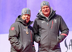 27.02.2018, Salzburg, AUT, PyeongChang 2018, ÖOC Medaillenfeier, im Bild v.l.: ÖSV Präsident Peter Schröcksnadel, ÖOC- Generalsekretär Peter Mennel // during a ÖOC medal celebration Party after the Olympic Winter Games Pyeongchang 2018 in Salzburg, Austria on 2018/02/27. EXPA Pictures © 2018, PhotoCredit: EXPA/ JFK