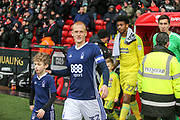 Ben Watson of Nottingham Forest (32) leads out the teams during the EFL Sky Bet Championship match between Sheffield United and Nottingham Forest at Bramall Lane, Sheffield, England on 17 March 2018. Picture by Mick Haynes.
