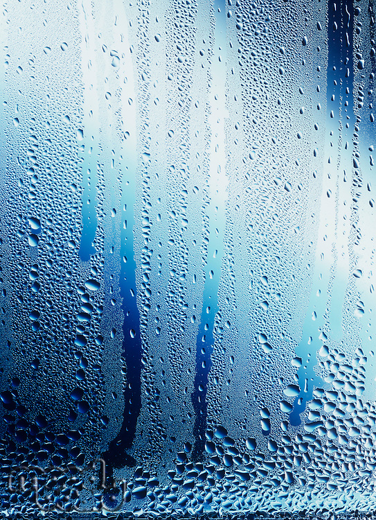 Water droplets and condensation on glass