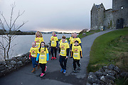Pieta House, Centre for the Prevention of Self-harm or Suicide will be holding its eighth Darkness into Light charity 5k walk/run this year and for the second time KINVARA is hosting the event.&nbsp; We will be hosting Darkness Into Light on 7th May 2016 while it is still dark at 4.15  and finishing as dawn is breaking at 5.30am approximately.<br /> <br /> The 5 kilometre circuit will commence at the Astro pitch at Kinvara National School. Runners and walkers veer left coming out of Kinvara National School and proceed down the main street. From there the runners and walkers will continue along the N67 in the direction of Dunguaire Castle. Runners and walkers will then turn onto R367(Ardrahan Road) on their right and from there proceed approx. 1 KM and turn left onto Green Road.They will then proceed to rejoin theN67 at the Green Road junction on the northeast of Dunguaire Castle. The participants will proceed back towards Kinvara village along the N67 until returning to the original starting point at the Astro pitch at Kinvara National School.<br /> At the Launch were Nicole Heanen, Bronagh O'Driscoll, Sam Heanen Ethan Sexton with Jennifer Mongan, Noleen Heanen, Hilary Sexton Claire Shiels and Peter Deego.  Photo:Andrew Downes, xposure.
