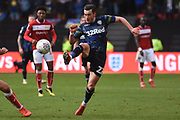 Leeds United midfielder Jack Harrison (22) plays a pass during the EFL Sky Bet Championship match between Bristol City and Leeds United at Ashton Gate, Bristol, England on 9 March 2019.