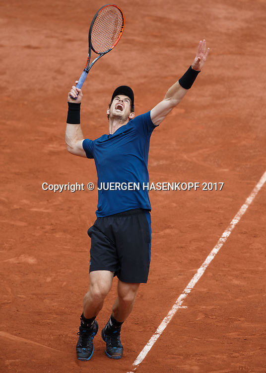 ANDY MURRAY (GBR)<br /> <br /> Tennis - French Open 2017 - Grand Slam ATP / WTA -  Roland Garros - Paris -  - France  - 30 May 2017.
