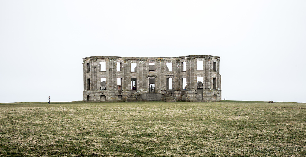Now part of the National Trust foundation, Downhill House was a mansion built in the 18th century for Frederick Hervey, 4th Earl of Bristol, at Downhill, Northern Ireland. Much of the building was destroyed by fire in 1851 before being rebuilt in the 1870s. It fell into disrepair after the Second World War.