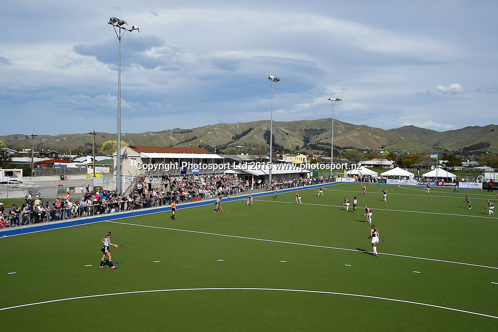 General view of College Park during the 2015 South Island Tour game between the New Zealand Black Sticks Women v Argentina. College Park, Blenheim, New Zealand. Sunday 4 October 2015. Copyright Photo: Chris Symes / www.photosport.nz