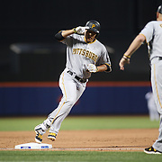 NEW YORK, NEW YORK - June 14:  Jung Ho Kang #27 of the Pittsburgh Pirates rounds the bases after hitting a two run homer in the sixth inning during the Pittsburgh Pirates Vs New York Mets regular season MLB game at Citi Field on June 14, 2016 in New York City. (Photo by Tim Clayton/Corbis via Getty Images)