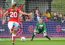 Sophie Baggaley of Bristol City makes a save - Mandatory by-line: Nizaam Jones/JMP - 28/04/2019 - FOOTBALL - Stoke Gifford Stadium - Bristol, England - Bristol City Women v West Ham United Women - FA Women's Super League 1