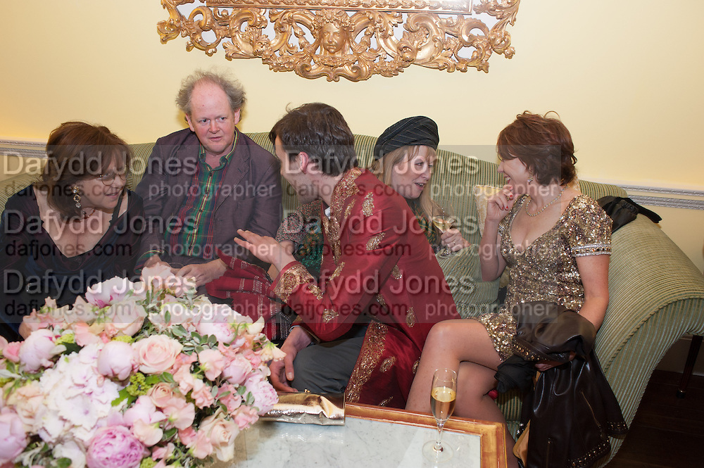 FRANCES WELCH; CRAIG BROWN; GEORGE BINNING; MARY KILLEN; KATHY LETTE, Tatler magazine Jubilee party with Thomas Pink. The Ritz, Piccadilly. London. 2 May 2012