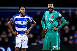 Etienne Capoue of Watford and Darnell Furlong of Queens Park Rangers - Mandatory by-line: Robbie Stephenson/JMP - 15/02/2019 - FOOTBALL - Loftus Road - London, England - Queens Park Rangers v Watford - Emirates FA Cup fifth round proper