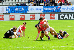 May 14, 2017 - Paris, France - MANOEL DALL IGNA of France team During the match against New Zealand of HSBC World Rugby Sevens Series at Jean Bouin stadium of Paris France.New Zealand beats France 14-0 (Credit Image: © Pierre Stevenin via ZUMA Wire)