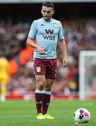 John McGinn of Aston Villa lines up a free kick - Mandatory by-line: Arron Gent/JMP - 22/09/2019 - FOOTBALL - Emirates Stadium - London, England - Arsenal v Aston Villa - Premier League