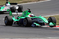 Team Ireland and driver Adam Carroll during  the A1 GP Official Practice for Rookies and Developing Nations, Taupo, New Zealand, Friday 23 January 2009. Photo: PHOTOSPORT/SPORTZPICS