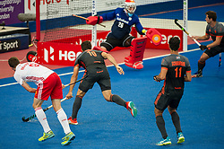 England's Harry Martin sees his shot saved by Primm Blaak of the Netherlands. England v The Netherlands - Semi Final - Hockey World League Semi Final, Lee Valley Hockey and Tennis Centre, London, United Kingdom on 24 June 2017. Photo: Simon Parker