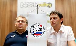 Branko Macek, beachvolley coordinator and Gregor Humerca, general secretary of OZS at press conference of Slovenian Beach tour 2011, on June 21, 2011, in Hala Tivoli, Ljubljana, Slovenia. (Photo by Vid Ponikvar / Sportida)