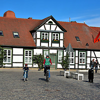 Half-timbered House in Warnem&uuml;nde, Germany <br />