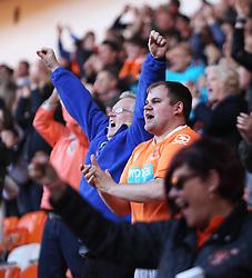 Blackpool fans celebrate their first goal - Mandatory by-line: Jack Phillips/JMP - 14/05/2017 - FOOTBALL - Bloomfield Road - Blackpool, England - Blackpool v Luton Town - Football League 2 Play-off Semi Final Leg 1