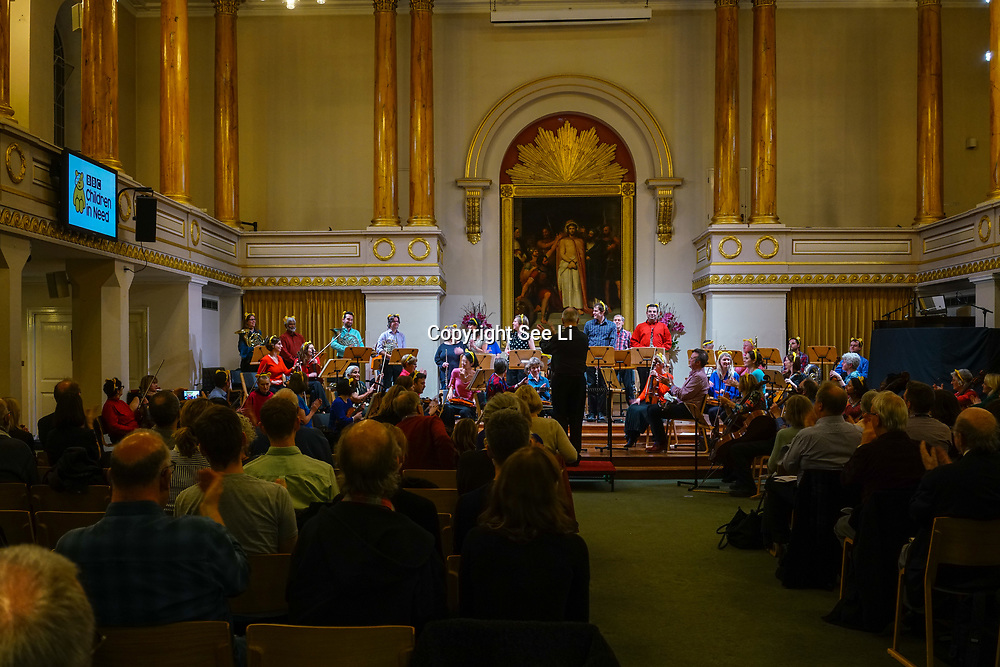 BBC Staff Charity Concert for Children In Need special one-off concert on 9th November 2017 at All Soul's Church, London, UK.