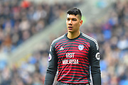 Neil Etheridge (1) of Cardiff City during the Premier League match between Cardiff City and Chelsea at the Cardiff City Stadium, Cardiff, Wales on 31 March 2019.