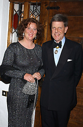 HRH PRINCESS KATARINA OF YUGOSLAVIA MRS DESMOND DE SILVA and SIR TOBIAS CLARKE at a charity dinner hosted by Jennie Hallam-Peel to promote the London Debutante Season held at her home Somerhill, Rowdean Crescent, Brighton on 12th September 2004.