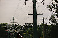 Commercial industrial electrical tower construction at the pro football hall of fame.
