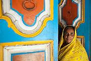 Muslim woman at Nagore. South India.