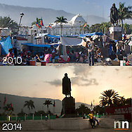 After the earthquake the square in front of the presidential palace become a camp for the survivors now five years after the camp is gone and the square is clean of tents. But where all the People go?