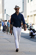 White Jeans and Navy Vest, NYFWM Day 3
