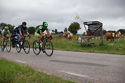 Rossella Ratto (ITA) of Cylance Pro Cycling tries to bridge the gap to the break in the second short lap of the Crescent Vargarda - a 152 km road race, starting and finishing in Vargarda on August 13, 2017, in Vastra Gotaland, Sweden. (Photo by Balint Hamvas/Velofocus.com)