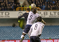 Football - 2018 / 2019 Emirates FA Cup - Fourth Round: Millwall vs. Everton<br /> <br /> Kurt Zouma (Everton FC ) and Lee Gregory (Millwall FC) compete for the header at The Den.<br /> <br /> COLORSPORT/DANIEL BEARHAM