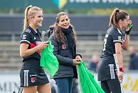 AMSTELVEEN  - Assistent Coach Cecilia Rognoni (Adam) tijdens de hoofdklasse competitiewedstrijd hockey dames , Amsterdam-Laren (3-0)  , COPYRIGHT KOEN SUYK