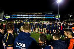 Worcester Warriors huddle - Mandatory by-line: Robbie Stephenson/JMP - 06/03/2020 - RUGBY - Sixways Stadium - Worcester, England - Worcester Warriors v Northampton Saints - Gallagher Premiership Rugby